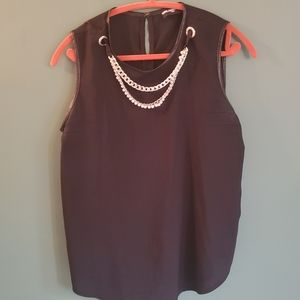 Karl Lagerfeld paris blouse with necklace